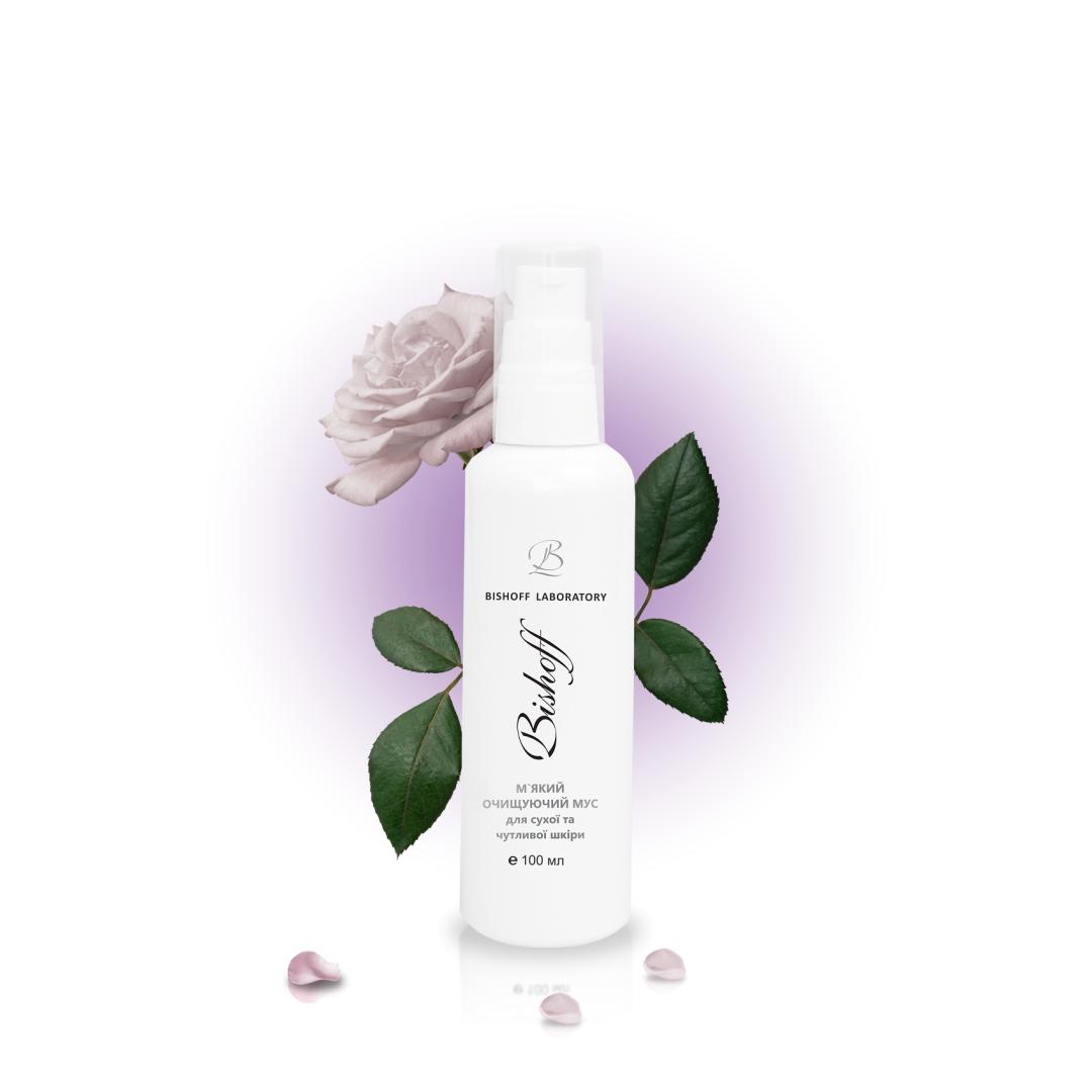 МУСС М`ЯКИЙ Очищуючий для сухої та чутливої шкіри з білою трояндою 100мл