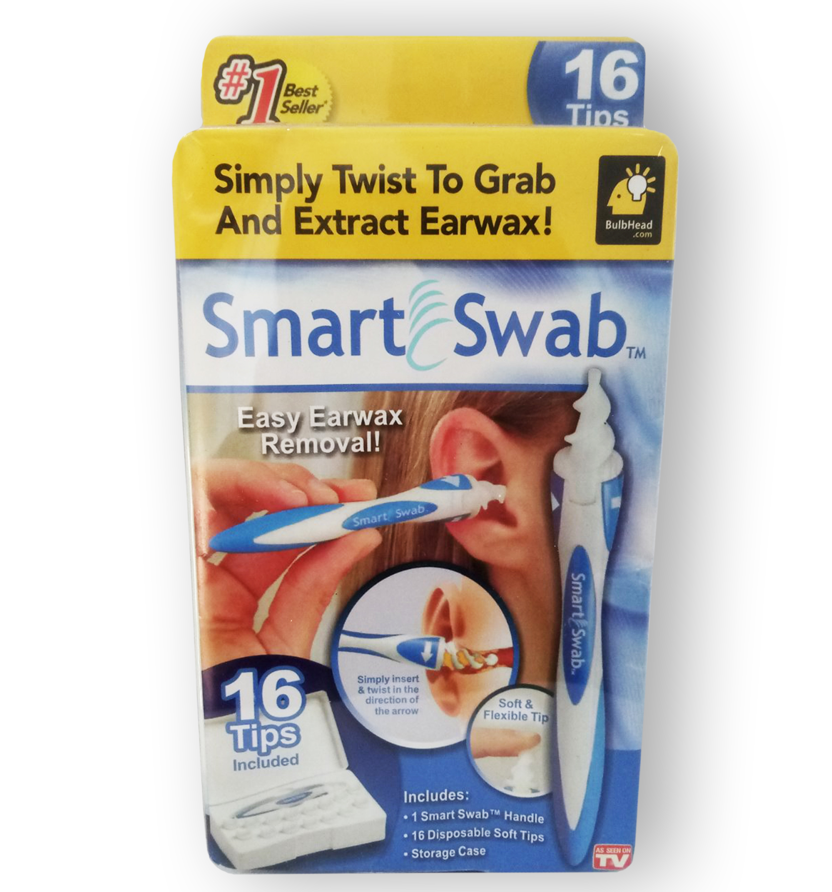 Smart Swab - Прибор для чистки ушей (Ухочистка), 16 насадок