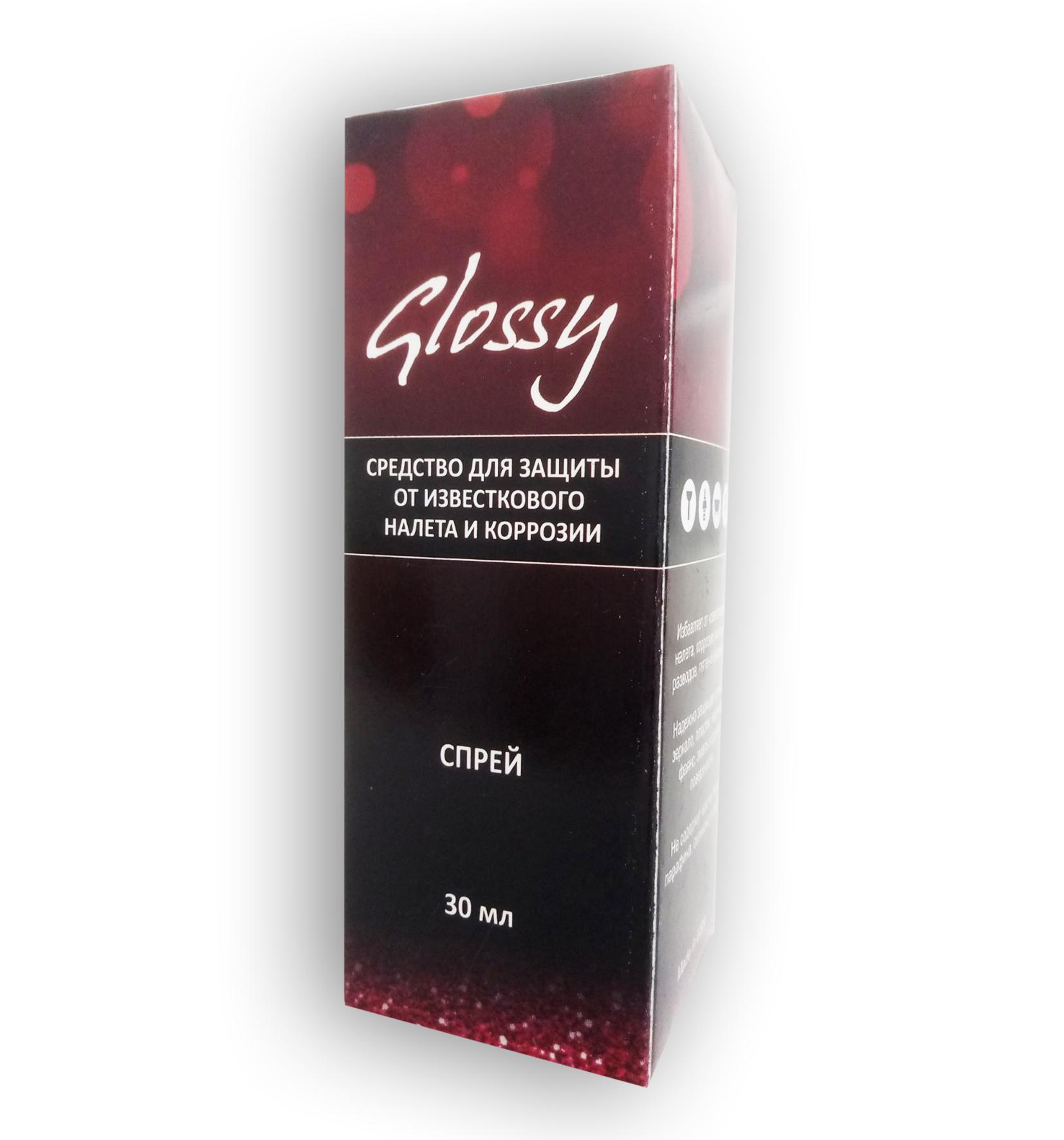 Glossy - спрей для защиты от известкового налёта и коррозии (Глосси)