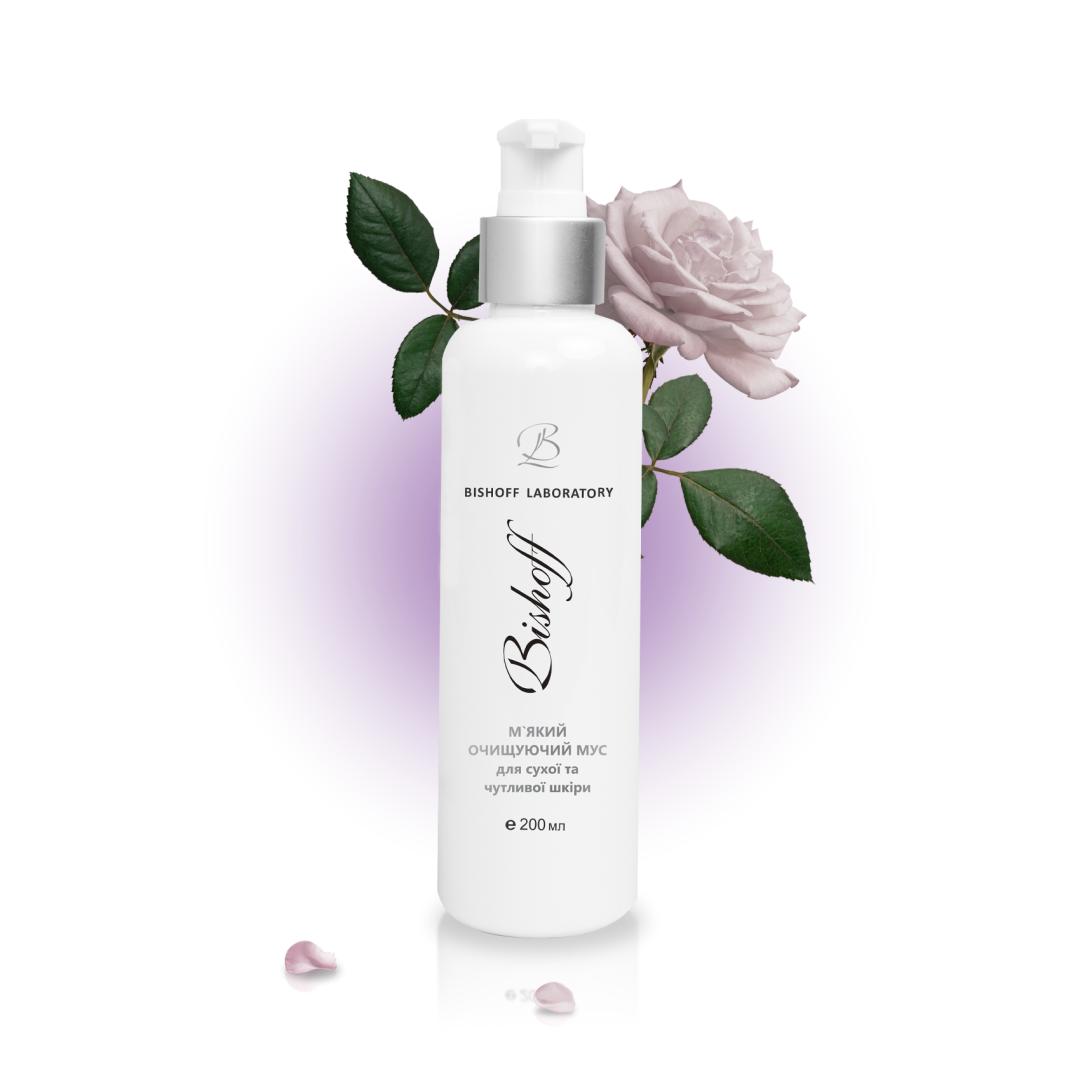 МУСС М`ЯКИЙ Очищуючий для сухої та чутливої шкіри з білою трояндою 200мл